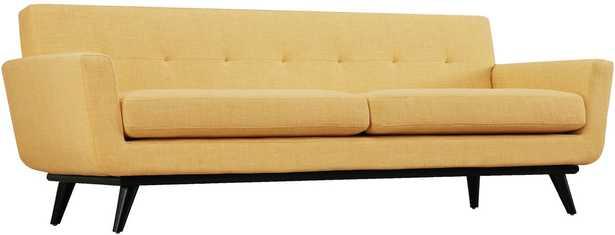 Sloane Mustard Yellow Linen Sofa - Maren Home