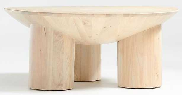 Tom Natural Three-Legged Coffee Table - Crate and Barrel