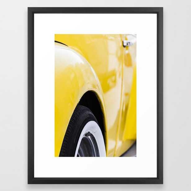 Yellow old car Framed Art Print - Society6