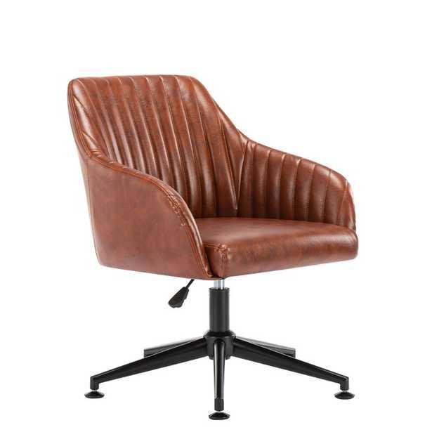 Brown Lorenzo Swivel Task Chair - Wayfair