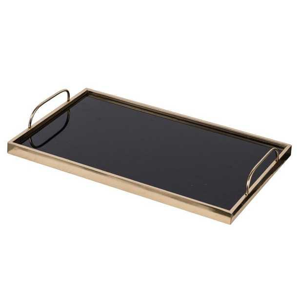 Gerold Glass Tray with Handles - Wayfair