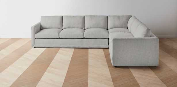 """The Warren - L Sectional - Right: 123"""" / Left: 98""""- Silver - Maiden Home"""