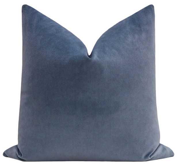 """Society Velvet // Capri Blue - Pillow Cover / 20"""" X 20"""" - Little Design Company"""