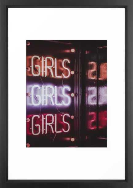 GIRLS NEON Framed Art Print - Society6