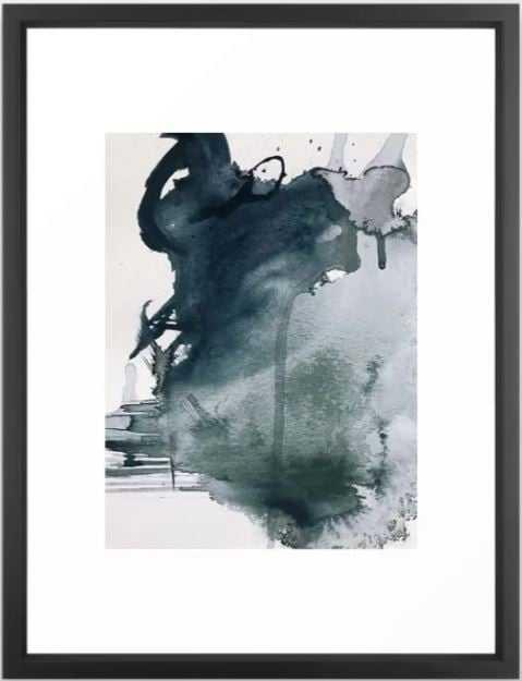 Lakeside Art Print - VECTOR BLACK FRAME - Medium 20 x 26 - Society6