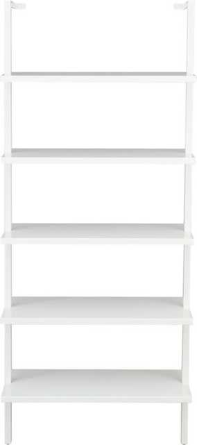 """Stairway White 72.5"""" Wall Mounted Bookcase - CB2"""