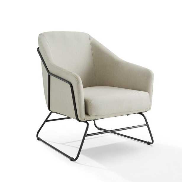 Crosley Marley Linen Accent Chair Body Fabric: Beige Linen Blend - Perigold