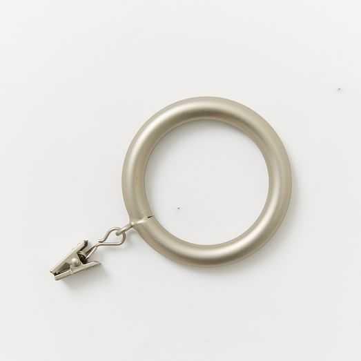 Round Metal Curtain Rings (Set Of 7) - Brushed Nickel - West Elm