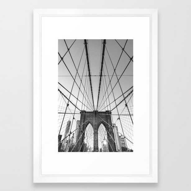 Lines of Brooklyn - New York Framed Art Print - Society6