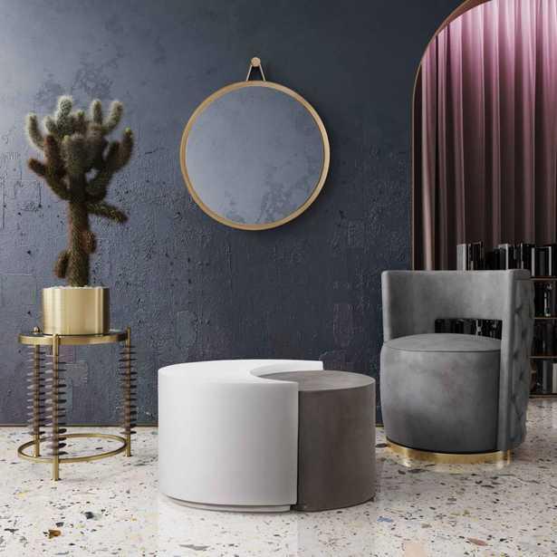 Raelynn Morgan and White Concrete Cocktail Table - Maren Home