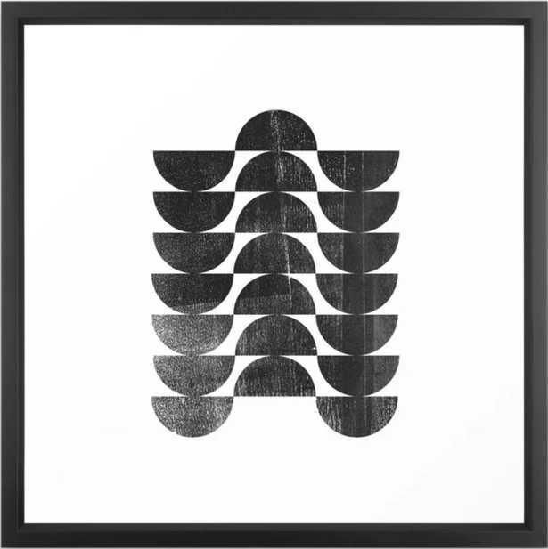 "Mid Century Modern Op Art Black and White Pattern Framed Art Print 22"" x 22"" - Society6"