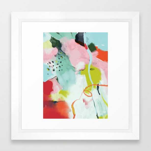 landscape in spring Framed Art Print - 12X12 - VECTOR WHITE FRAME - Society6
