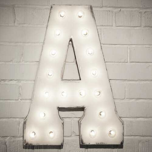 Letter Marquee Sign- white, A - Wayfair