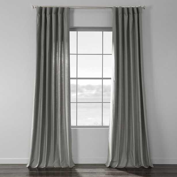 Sanger Solid Country Cotton Linen Weave Rod Pocket Single Curtain Panel - Wayfair