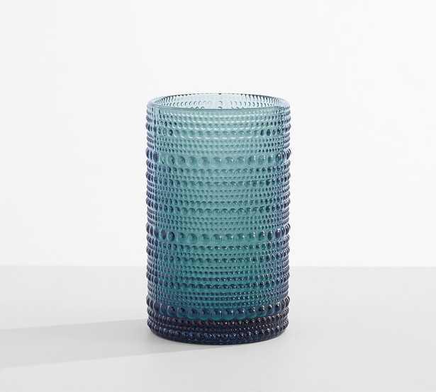 Jupiter Hobnail Tall Drinking Glass, 13 oz., Set of 6 - Blue - Pottery Barn