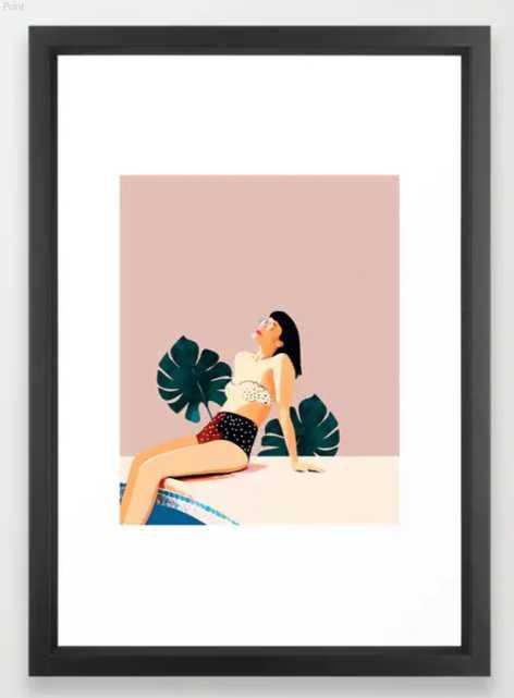 Sunday Framed Art Print - Society6