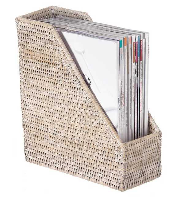 Telford Handwoven Rattan Magazine File - Wayfair