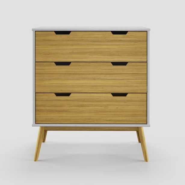 White/Wood Drawer Fronts Lancashire 3 Drawer Chest - Wayfair