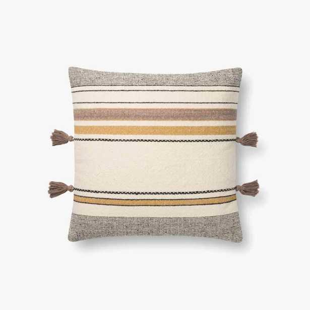P1123 MH GOLD / MULTI Pillow with Polyester Insert - Loma Threads