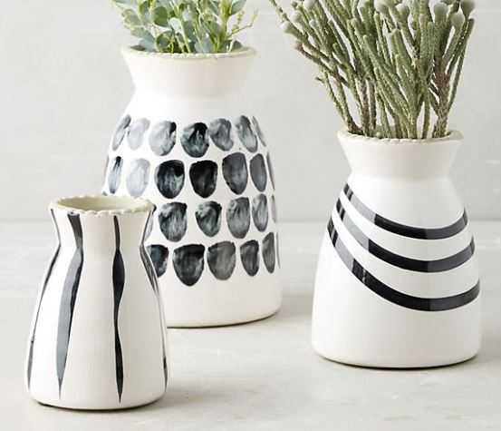 Kupia Handpainted Vase Set - Anthropologie