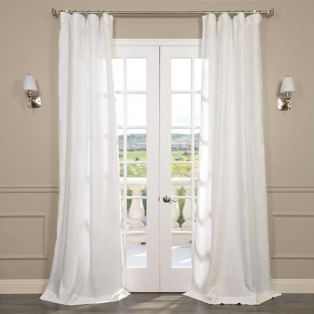 Pyrogi Linen Sheer Rod Pocket Single Curtain Panel - Wayfair