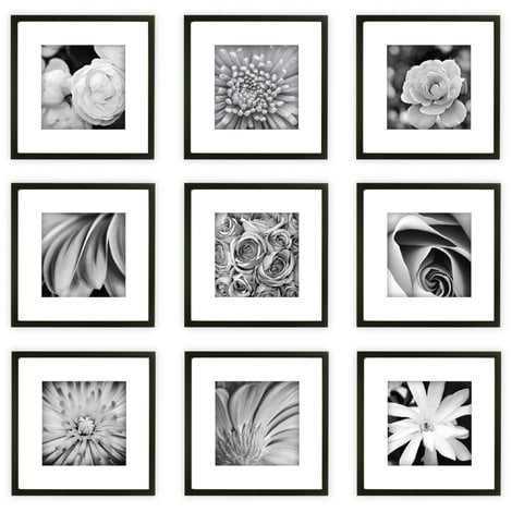 Estinnes 9 Piece Wood Picture Frame Set - AllModern