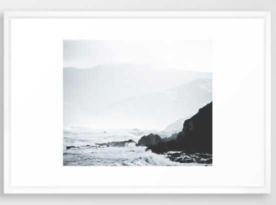 Sea Waves Seascape, Ocean Waves - FRAMED ART, 26x38 - Society6