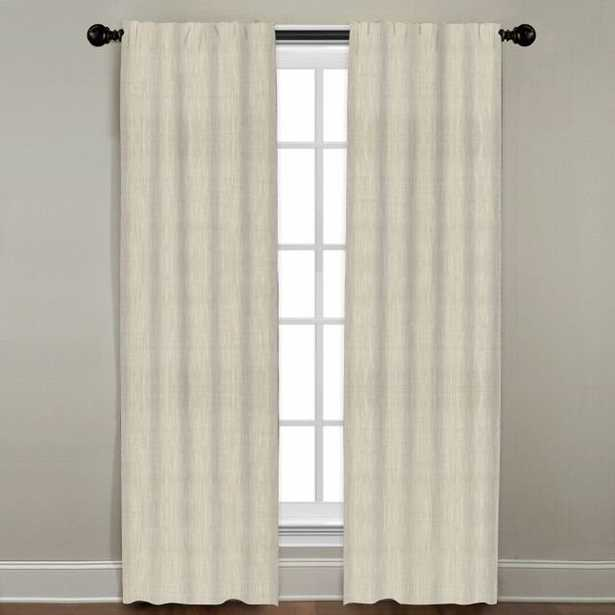 """Linen Drapery Single Panel, Natural, 120"""" - Havenly Essentials"""