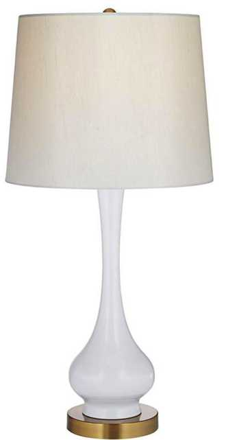 Lula White and Brass Gourd Table Lamp - Lamps Plus