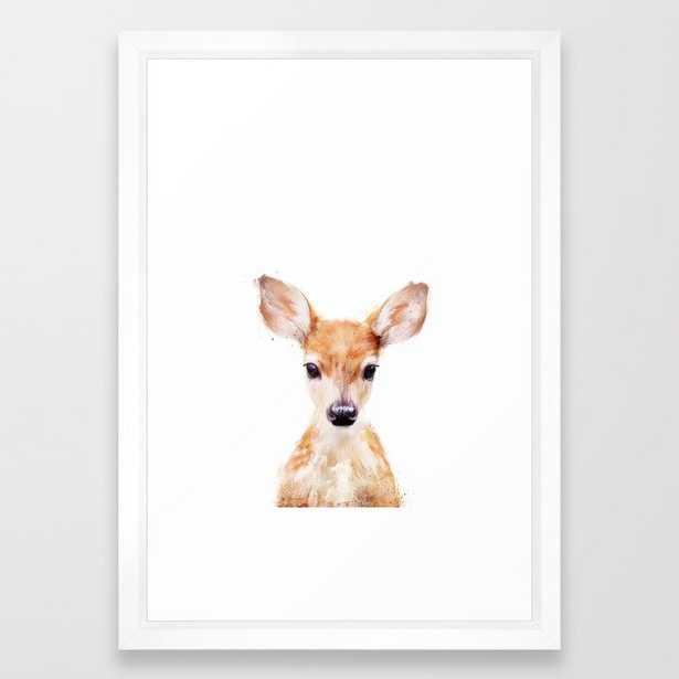 Little Deer Framed Art Print 15x21 Scoop White Frame - Society6