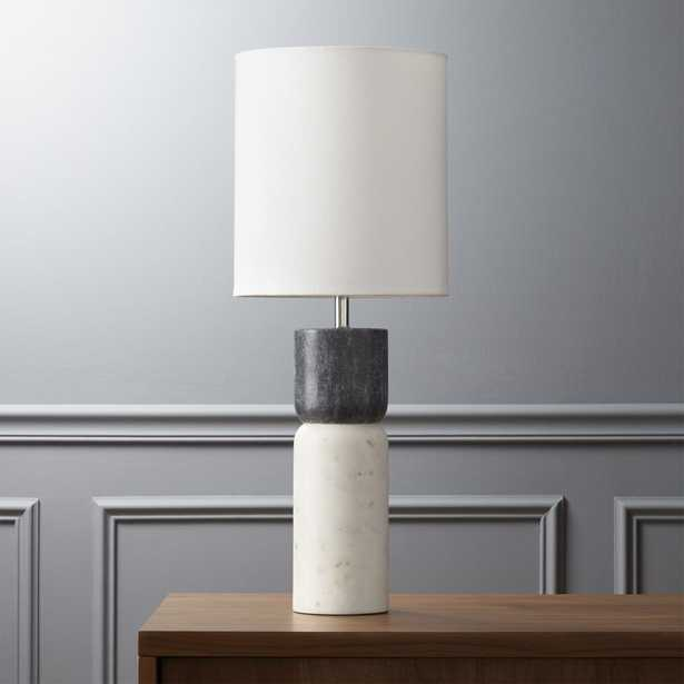 stacked marble table lamp - CB2