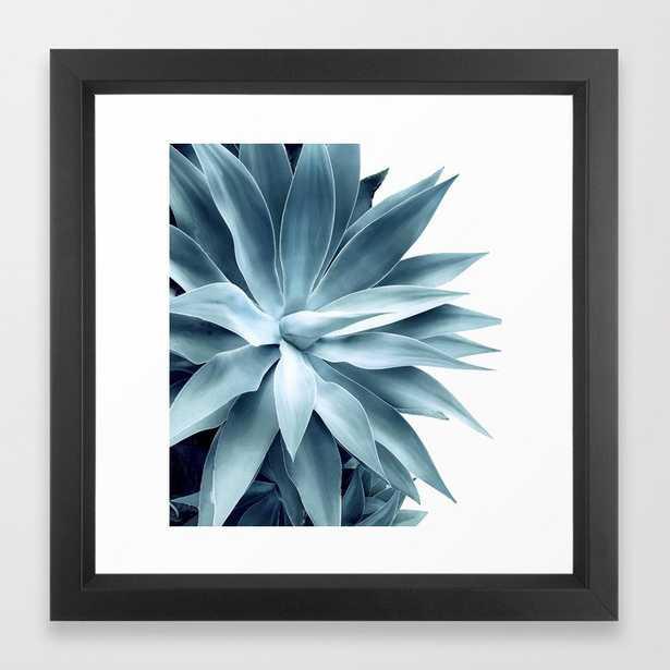 Bursting into life - teal Framed Art Print - Society6