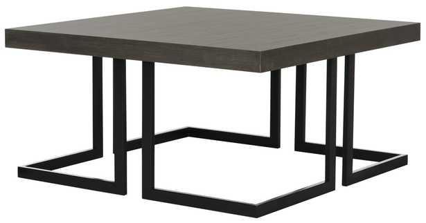 Amalya Modern Mid Century Wood Coffee Table - Dark Grey/Black - Arlo Home - Arlo Home