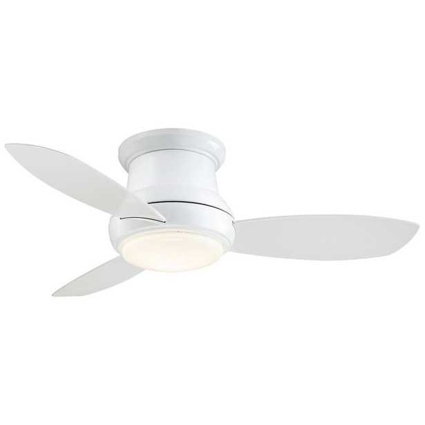 Concept II 44 in. Integrated LED Indoor White Ceiling Fan with Light with Remote Control - Home Depot