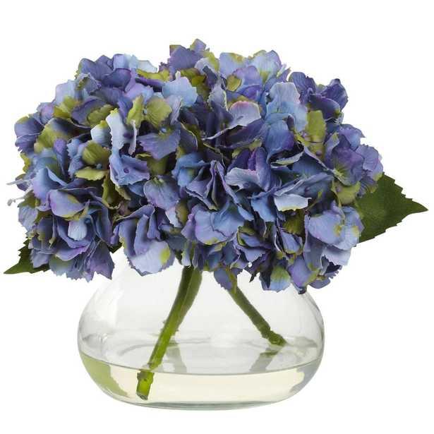 Blooming Hydrangea w/Vase - Blue - Fiddle + Bloom