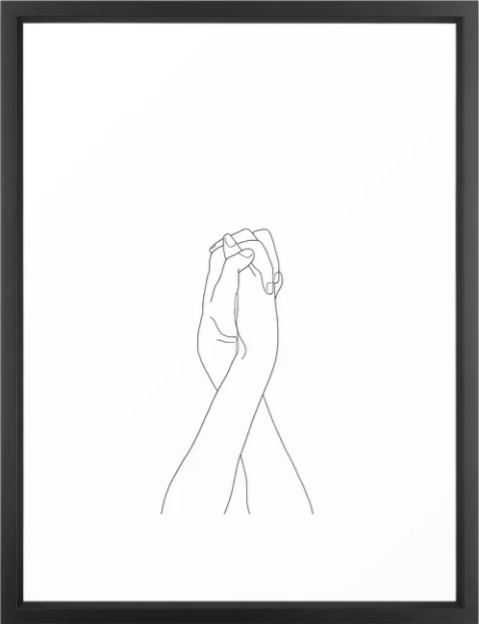 Never Let Me Go II Framed Art Print - Society6
