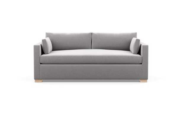 Charly Sofa in Ash Fabric with Natural Oak Block Leg - Interior Define