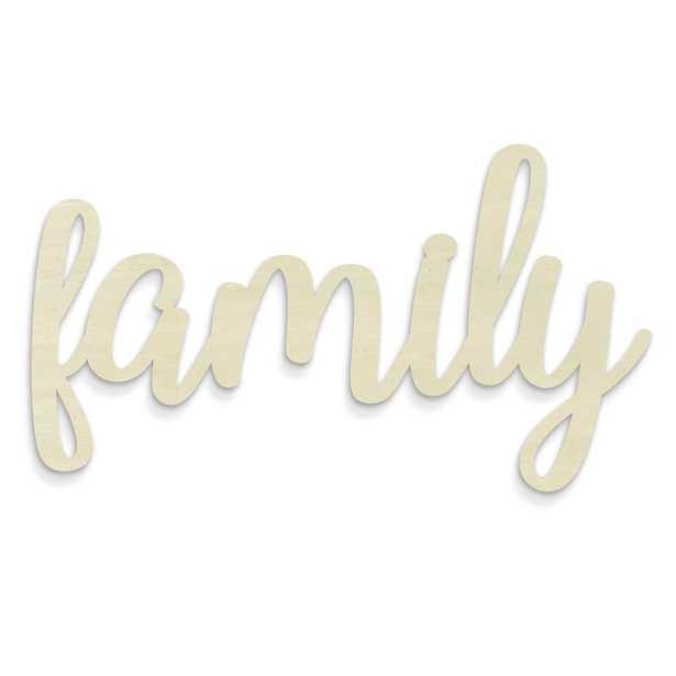 Huge Cursive Word 'Family' Wall Décor - Wayfair