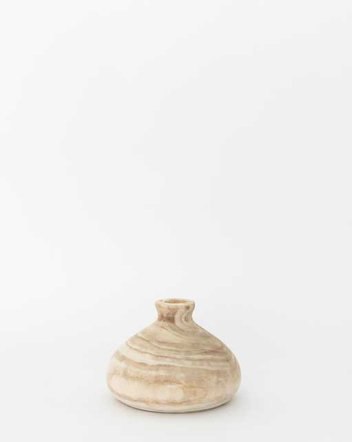 ROUND WOOD VASE - SMALL - McGee & Co.