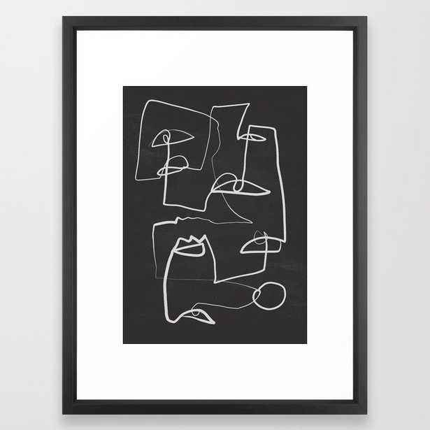 Abstract line art 12/2 Framed Art Print - Society6