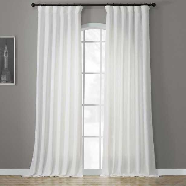 Solid Semi-Sheer Rod Pocket Single Curtain Panel - Wayfair