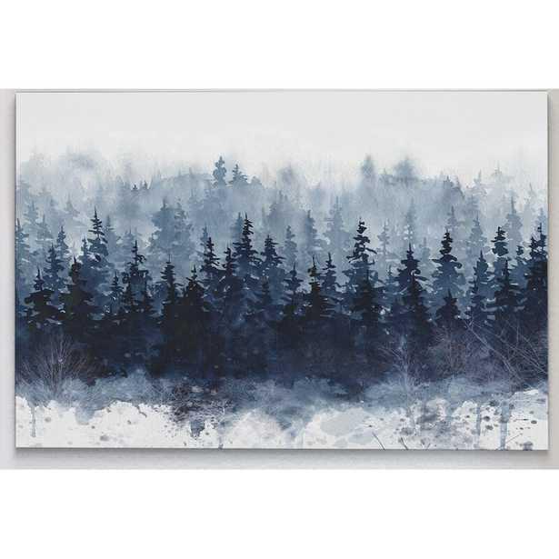 "32"" H x 48"" W x 1.5"" D 'Indigo Forest' - Picture Frame Print on Canvas - Wayfair"