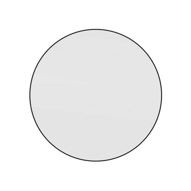 Glass Warehouse 36 in. x 36 in. Round Black Stainless Steel Framed Mirror - Home Depot