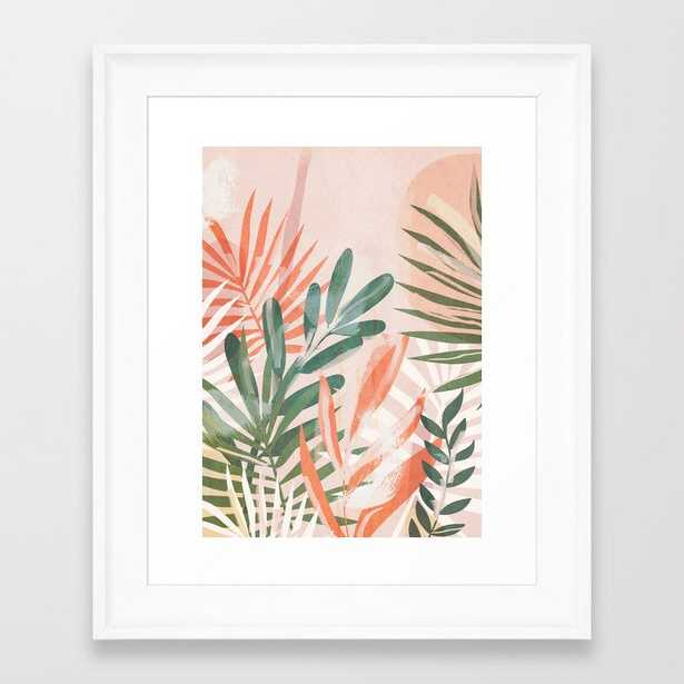 Tropical Leaves 4 Framed Art Print by ThingDesign - Society6