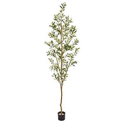 """Olive Artificial Tree, 82"""" - Fiddle + Bloom"""