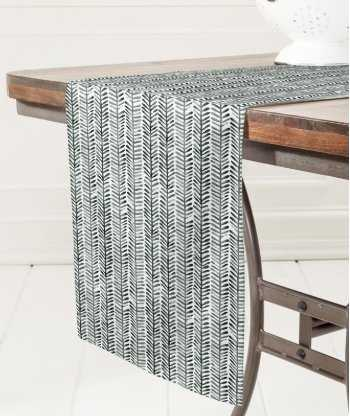 Dash and Ash Herring Table Runner - Wander Print Co.