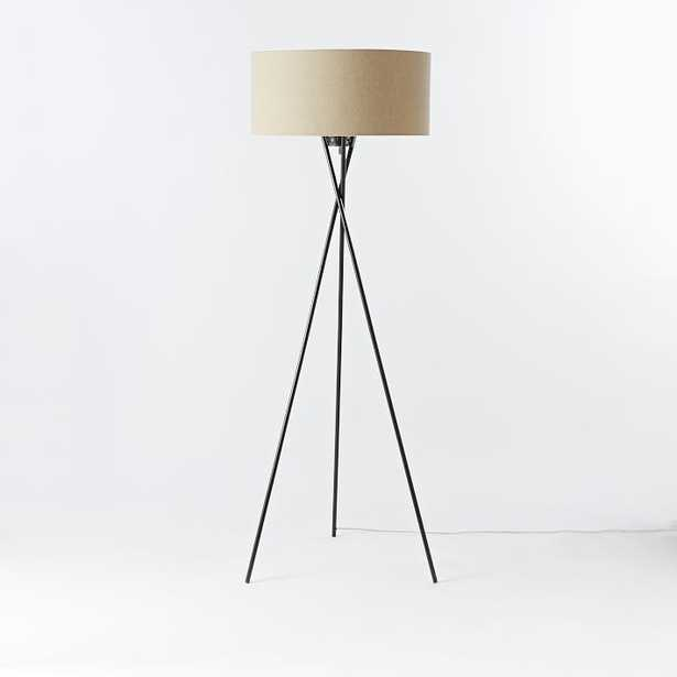 "Mid-Century Tripod Floor Lamp (66""), antique bronze - West Elm"
