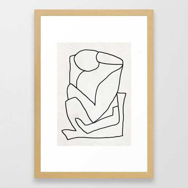 Abstract line art 2 Framed Art Print - Society6