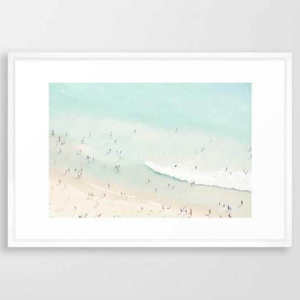 "beach summer fun - 26"" x 38"" - vector white - Society6"