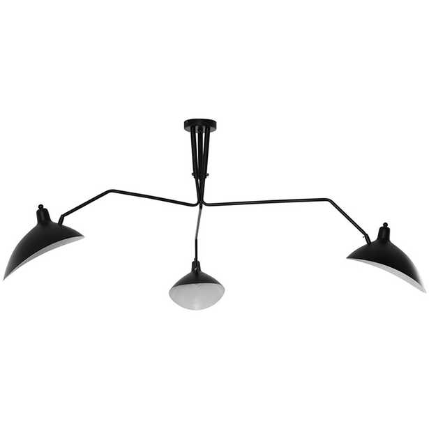 VIEW CEILING FIXTURE IN BLACK - Modway Furniture